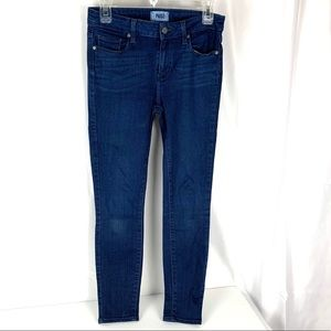 Paige size 28 Verdugo Ankle Skinny dark blue jeans